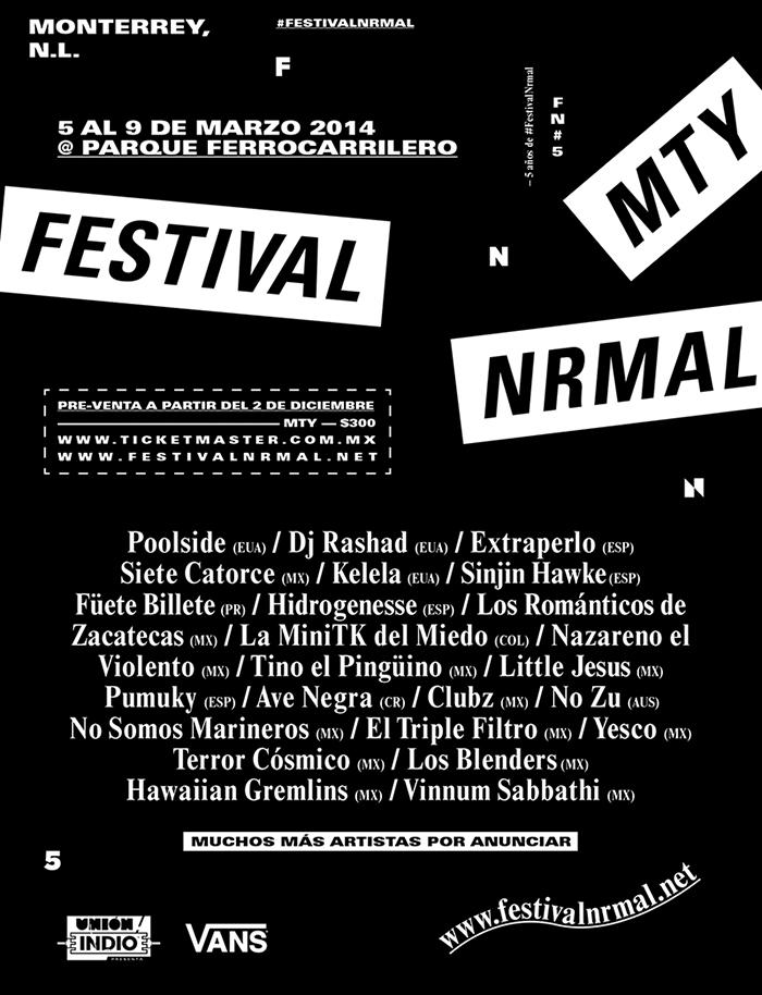Festival Nrmal 2014 en Monterrey, NL.