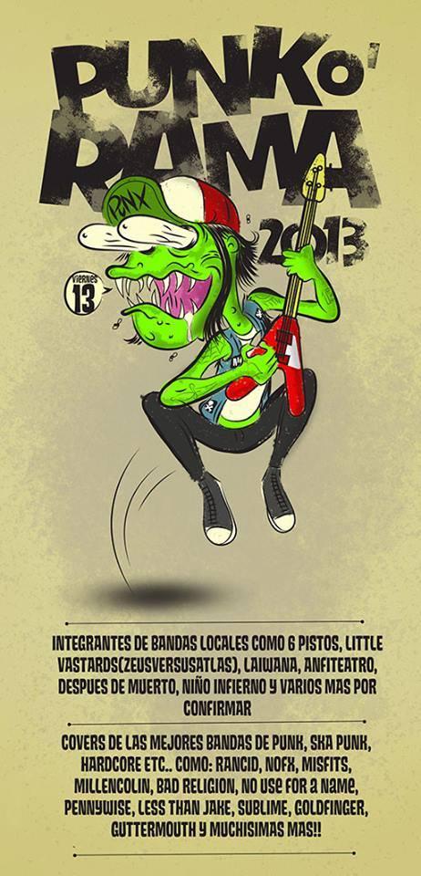 Punk-O-Rama 2013 este viernes 13 de diciembre @ Club Bolívar