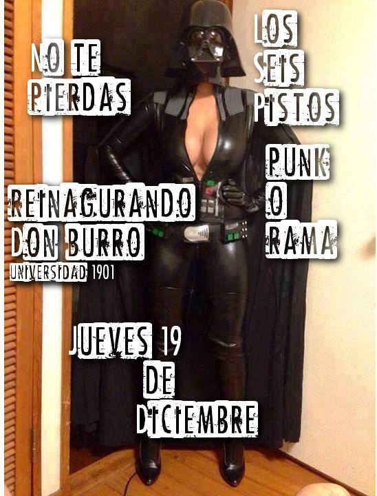 Seis Pistos & Punk-O-Rama este jueves 19 de diciembre @ Don Burro Foro Cultural