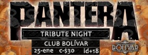 Pantera Tribute Night este sábado 25 de enero @ Club Bolívar