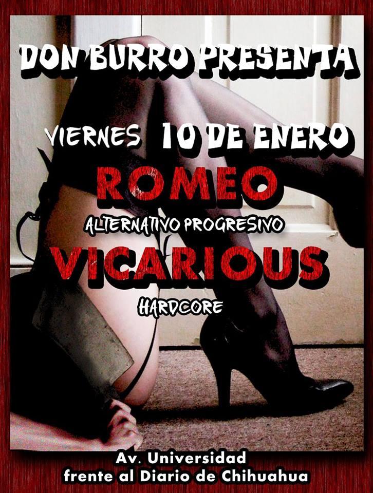 Romeo y Vicarious este viernes 10 de enero @ Don Burro Foro Cultural