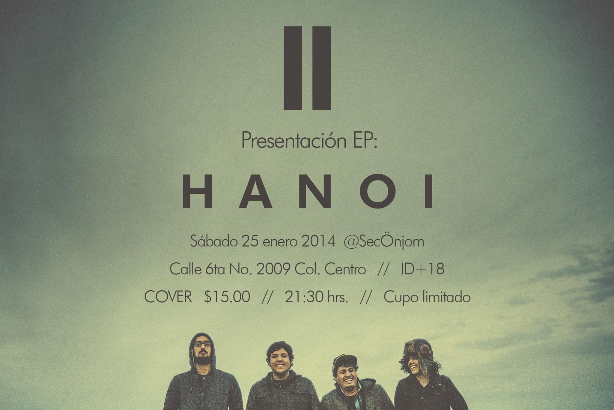 Presentación del EP 'HANOI' de II este sábado 25 de enero @ SecÖnjom