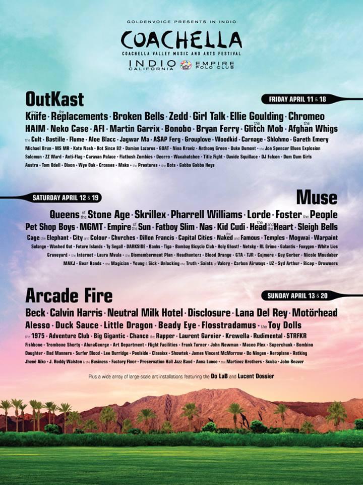 Cartel oficial del Festival Coachella 2014