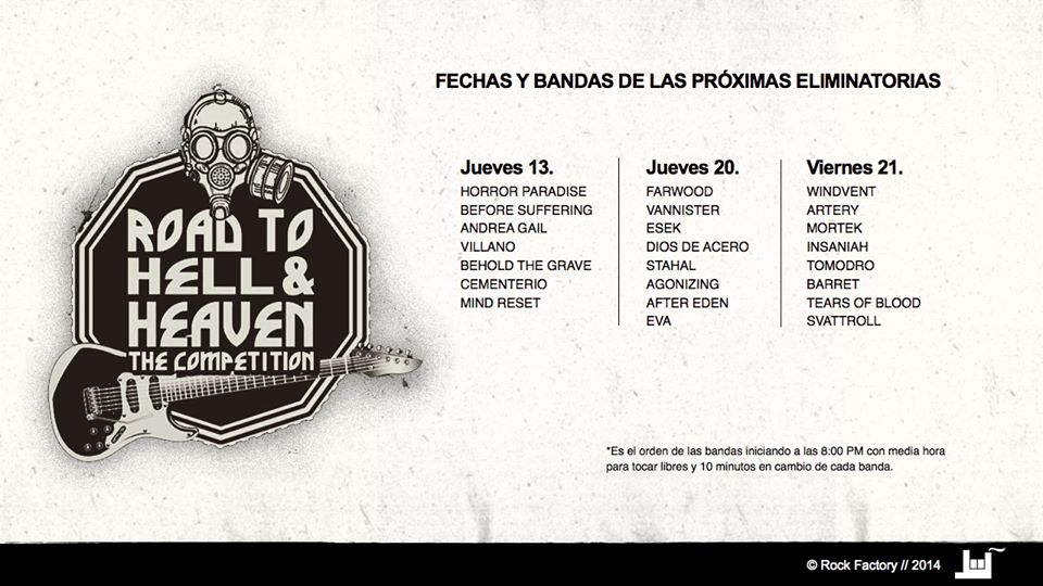 Próximas eliminatorias del Road to Hell & Heaven: The Competition Chihuahua