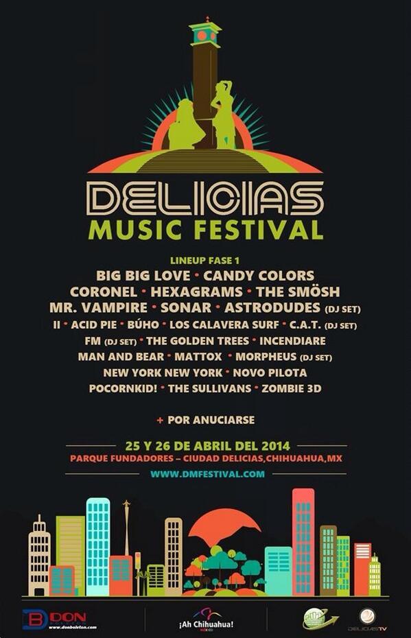 Primera fase del line up del Delicias Music Festival