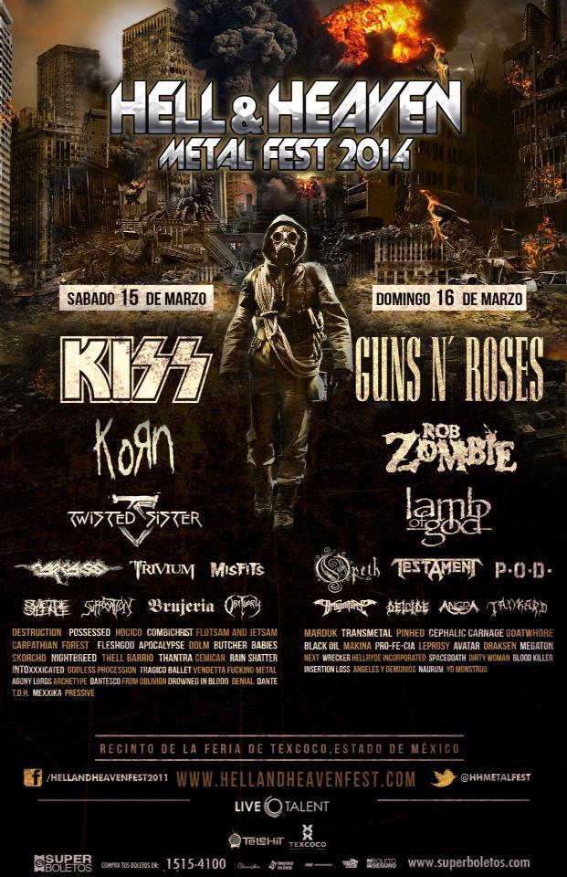 Cartel oficial y final del Hell & Heaven Corona Metal Fest 2014