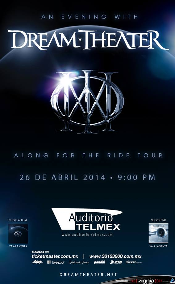 Dream Theater este sábado 26 de abril @ Auditorio Telmex (Guadalajara, Jal.)