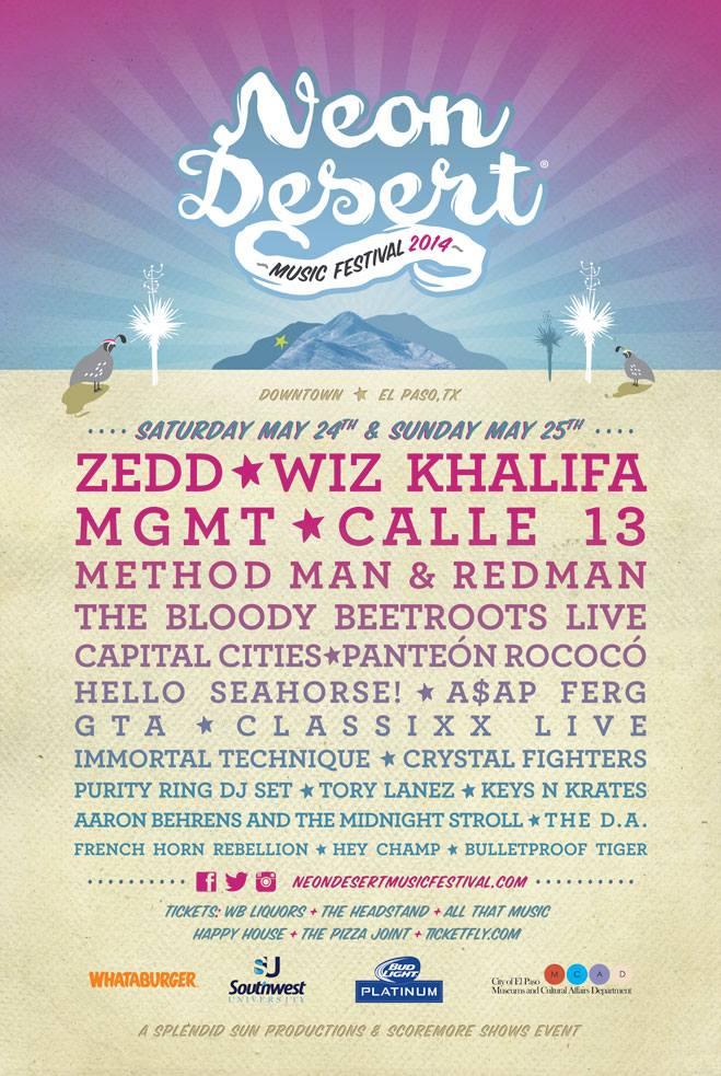 Cartel del Neon Desert Music Festival 2014