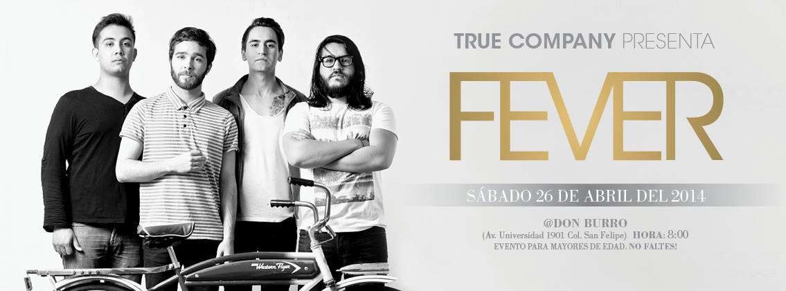 Fever este sábado 26 de abril @ Don Burro Foro Cultural
