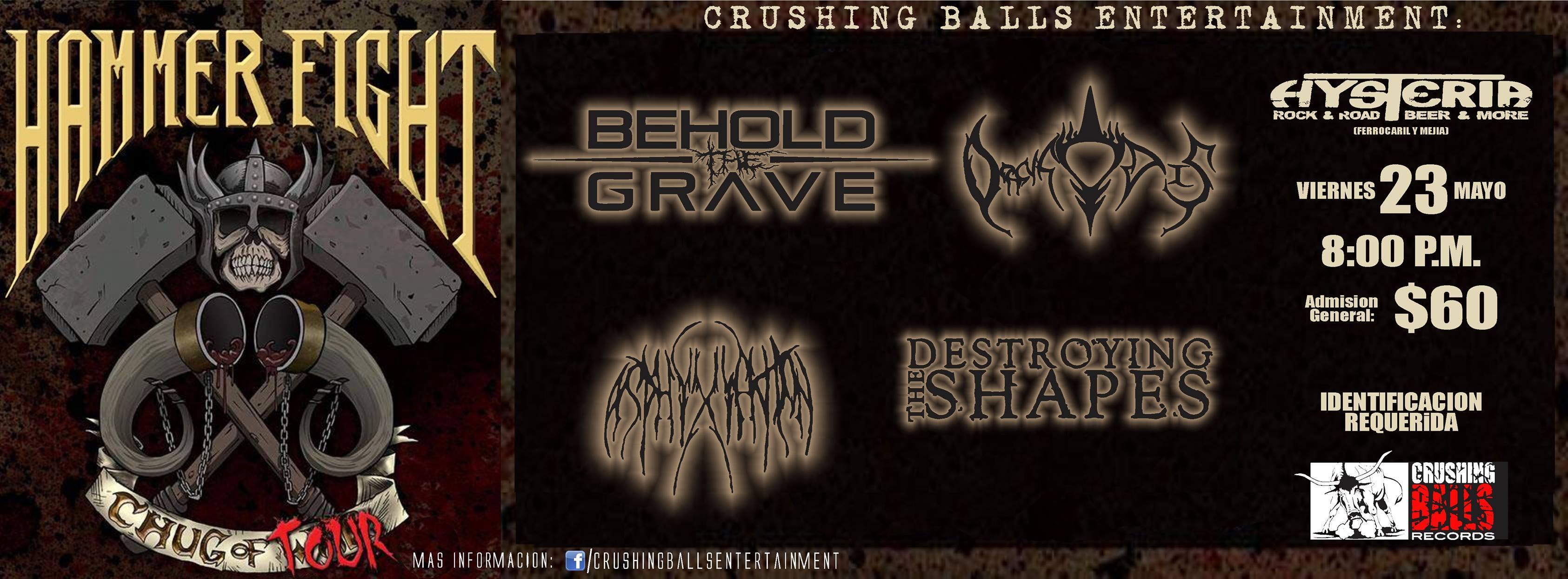 Hammer Fight, Behold The Grave y más este viernes 23 de mayo @ Bar Hysteria (Cd. Juárez)